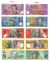The notes and coins denominations in Australia are Notes: $5, $10, $20 ...
